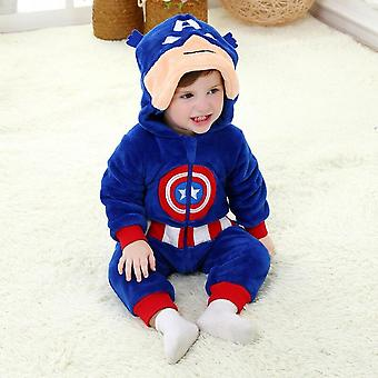 Costume per bambini Costume di Halloween Pigiama Iron Man 0-36 mesi Baby Hooded Cosplay Suit Soft Flannel Winter Jacket With Zipper