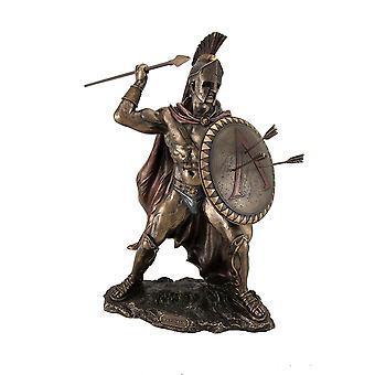 Griechische Krieger König Leonidas von Sparta-Bronze-Finish-Statue