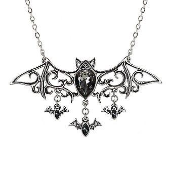 Alchemy Gothic Viennese Nights Crystal Bat Pendant Necklace