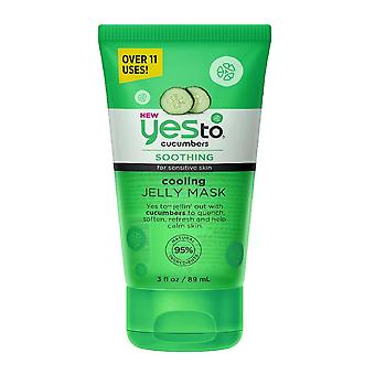 Yes to cucumbers cooling jelly face mask, soothing for sensitive skin, 3 oz