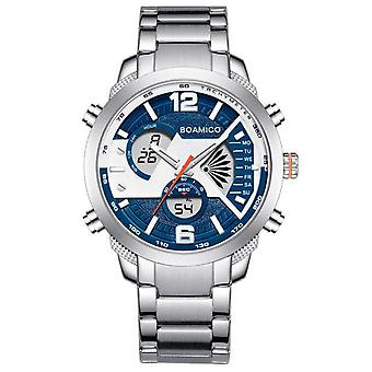Creative Fashion Mens Watches Stainless Steel Top Brand Luxury Sports Men's Digital Watches