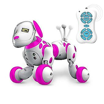 Robotic toys remote control smart talking robot dog  programable  2.4G wireless pink