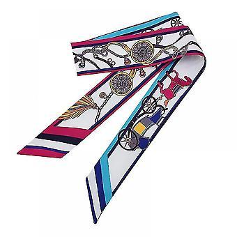 Scarves shawls elegant silk scarf hair band women head neck scarves color5