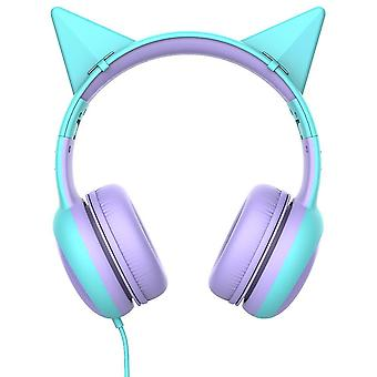 Kid's Headphone With Microphone For School(Turquoise)