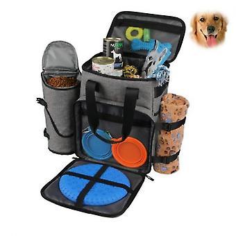Koiran matkalaukku - Matkasetti koirille säilyttää kaikki koiran tarvikkeet