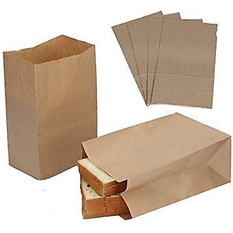 50шт Большие крафт Пищевые пакеты Упаковочная бумага Прочные крафт бумажные пакеты