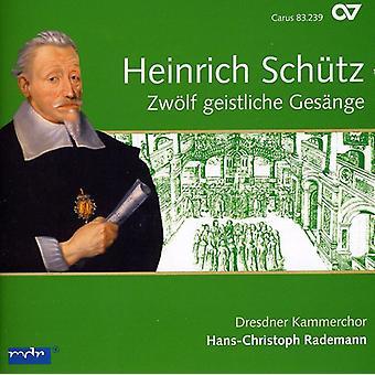 H. Schuetz - Heinrich Sch Tz: Zw Lf Geistliche Ges Nge [CD] USA import