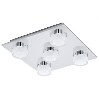 Eglo Romendo Chrome White Ceiling Light