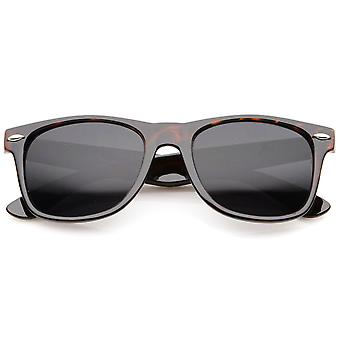 Retro Wide Temple Neutral Colored Lens Horn Rimmed Sunglasses 55mm
