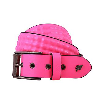 Lowlife Cover Up Leather Belt in Neon Pink