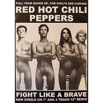 פוסטר אדום חם צ'ילי פפרז כרזה פוסטר הדפסה