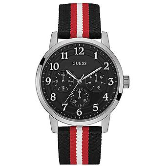 Guess Men's Watch Multi Dial Material Strap W0975G1