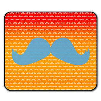 Hippie Moustache  Non-Slip Mouse Mat Pad 24cm x 20cm | Wellcoda