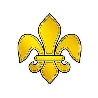 Präglad folie Fleur De Lis siluett Cutout