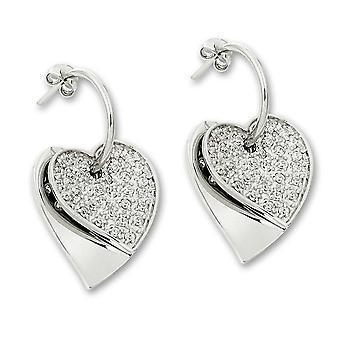 Orphelia Silver 925 Drop Zirc ZO-5821 hart Earring