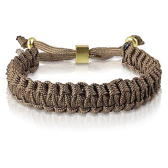 Skipper braided bracelet bracelet bracelet braided nylon Braun gold 7173