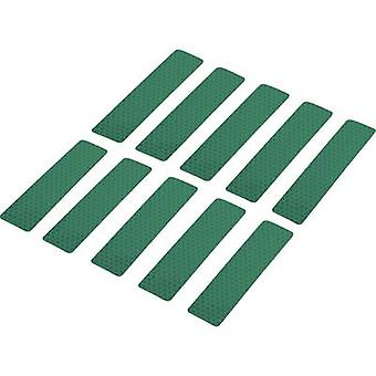 Conrad Components RTS25/100-GN 1282799 Bandes adhésives RTS Green (L x W) 100 mm x 25 mm 10 pc(s)
