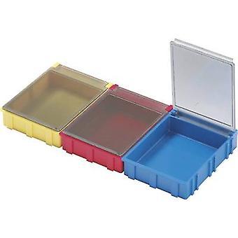 Licefa N52361 SMD box Red Lid colour: Transparent 1 pc(s) (L x W x H) 180 x 68 x 15 mm