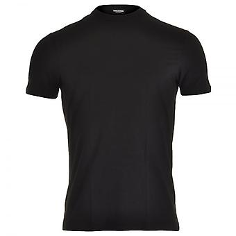 DSQUARED2 モーダル ストレッチ クルー ネック t シャツ、黒、小