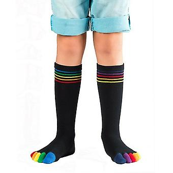 Knitido Rainbow kids, kids toe socks made of cotton colored toes
