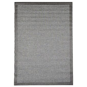 In - and outdoor carpet balcony / living room of Essentials chrome grey 135 x 190 cm