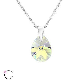 PEAR kristal van Swarovski® - 925 Sterling zilveren kettingen - W38046X