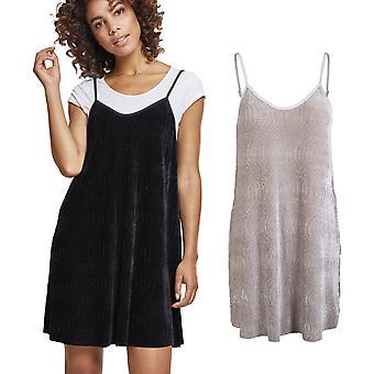 Urban classics ladies - velvet slip dress dress