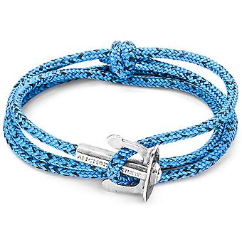 Anchor and Crew Union Silver and Rope Bracelet - Blue Noir
