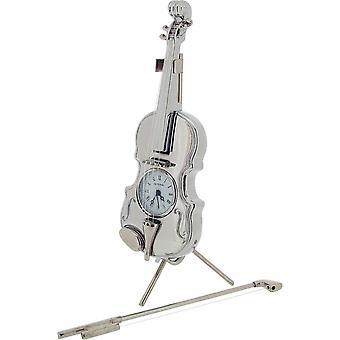 מתנות זמן מוצרי כינור שעון מיניאטורי-כסף