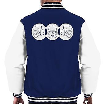 Original Stormtrooper Line Art Trio Men's Varsity Jacket