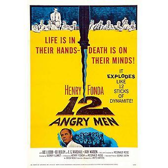 12 Angry Men elokuvajuliste (11 x 17)