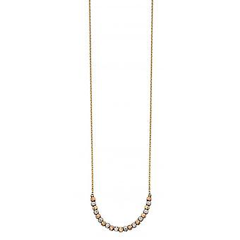 Elementen goud gemengd diamant geslepen parel armband - goud