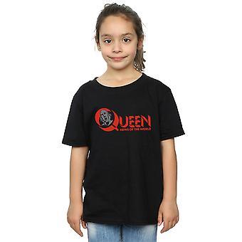 Queen Mädchen News Of The World-Logo T-Shirt