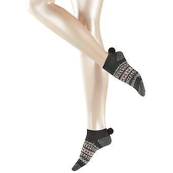 Esprit norwegischen Sneaker Socken - Anthrazit Melange