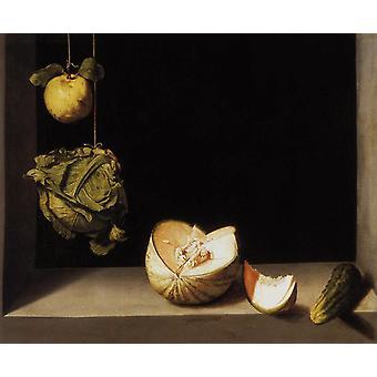 Fruit Still Life,Juan Sanchez-Cotan,65x81cm