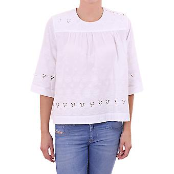 By Malene Birger Womens 3/4 Sleeve Top With Flower Detail