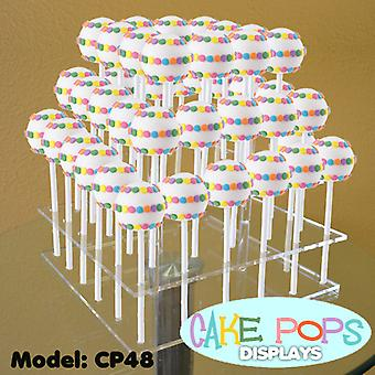 OnDisplay Cake Pops 3 Tiered Acrylic Display Stand - 48 Slot