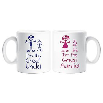 Jag är den stora faster farbror mugg Set