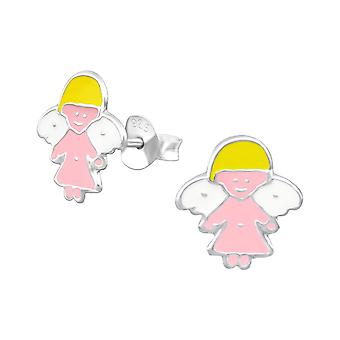 Angel - 925 Sterling Silver Colourful Ear Studs - W12753x