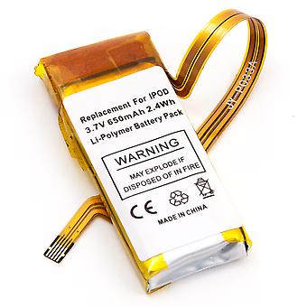Batteria per Apple Video 30gb iPod 5a generazione Gen 616-0230 616-0227 616-0229 + panno in microfibra