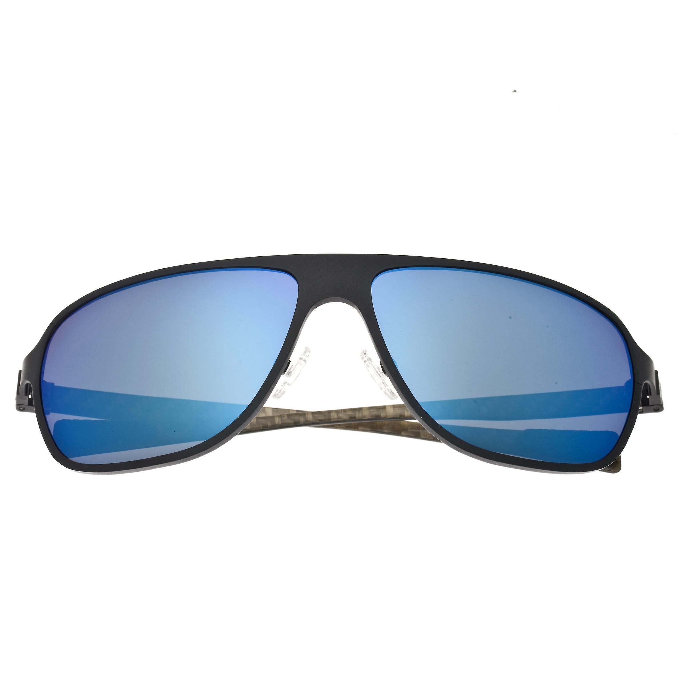 Breed Atmosphere Titanium And Carbon Fiber Polarized Sunglasses - Black/Blue