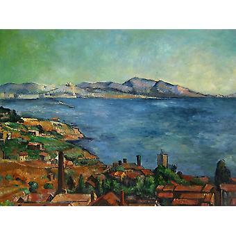 75x100cm, Cezanne maisema, öljy maalaus kankaalle Cezanne