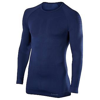 Falke Maximum Warm Tight Fit Long Sleeve Shirt - Dark Night Navy