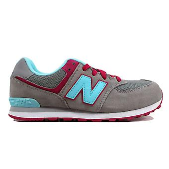 New Balance 574-grau/Light Blue-Magenta KL574ALG Grundschule