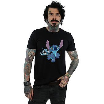 Lilo e Stitch Disney masculino hipnotizou a t-shirt