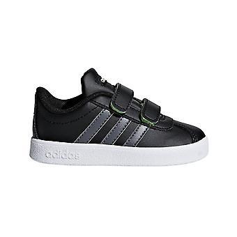 Adidas VL Court 2.0 spedbarn barn gutter Sports trener Shoe svart