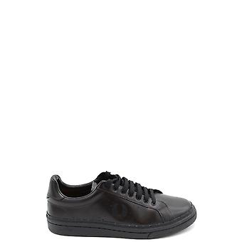 Fred Perry Ezbc094074 Men's Black Leather Sneakers