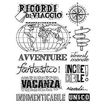 Stamperia Natural Rubber Stamp Souvenirs de voyage