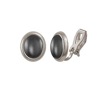 Ewige Sammlung Menuett Hämatit Silberfarbe Stud-Clip auf Ohrringe