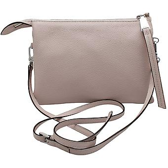 Abro Cross Body Neutral Leather Handbag